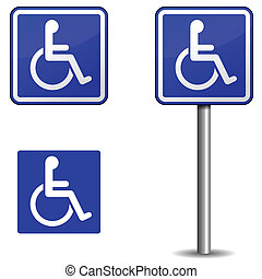 Handicap sign - Vector handicap sign on white background