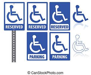 handicap, signe parking