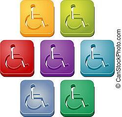 Handicap symbol button set