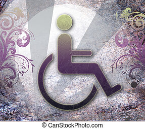 handicap symbol of accessibility,background vector