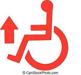 handicap symbol on a white background