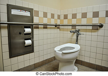 handicap toilet stall