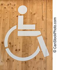 Handicap Wheelchair Sign: Restroom Symbol