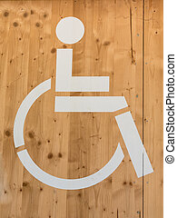 Handicap Wheelchair Sign: Restroom Symbol