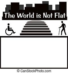 handicappato, città