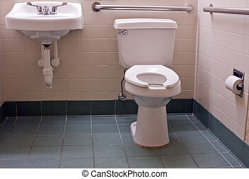 handicapped bathroom with bars