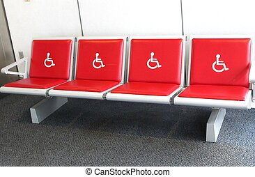Handicapped bench - Airport