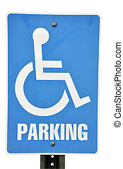 Handicapped Parking Sign Isolated