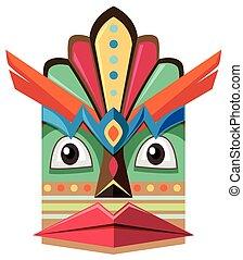 Handicraft design with human face