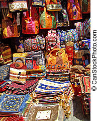 Handicraft shop with woven items