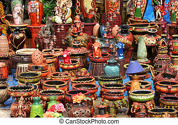 Colorful handicrafts of India