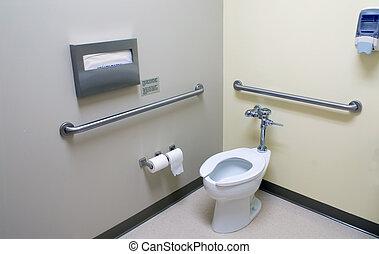 handikapp, badrum