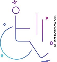 handikapp, vektor, design, ikon