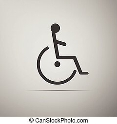 handikappad, handikapp, icon.