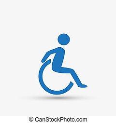 handikappad, handikapp, ikon