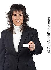 Handing a blank card