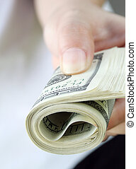 Handing over Payment