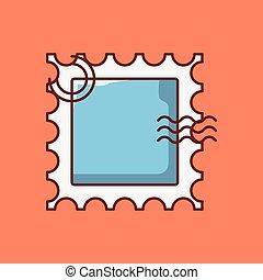 handkerchief vector line flat icon