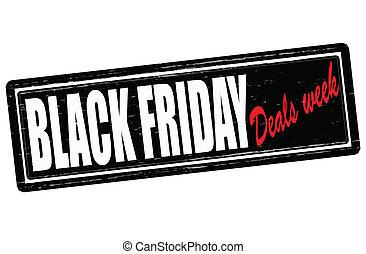 handlar, vecka, fredag, svart