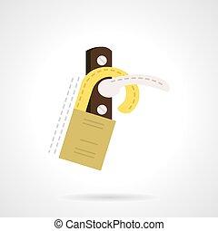 Handle door tag flat vector icon