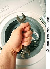 handle double wrench, maintenance a Washing machine