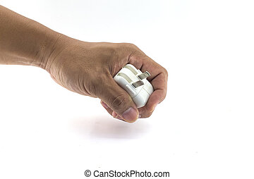Handle the phone charger On a white background