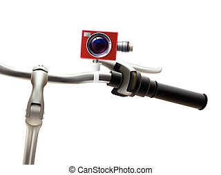 Handlebar Camera Realistic Illustration