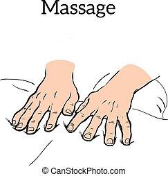 handleiding, medisch, therapie, massage., therapeutisch
