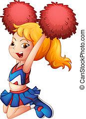 handlekraftig, cheerleader