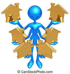 Handling Multiple Homes - 3D Concept And Presentation Figure