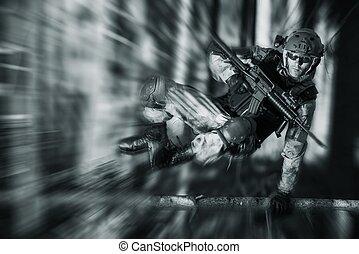 handling, soldat, här