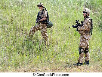 handling, tjäna som soldat