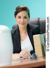 handlowa kobieta, biuro