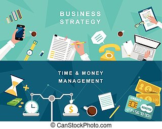 handlowa strategia, i, twórczy, proces, w, płaski, projektować