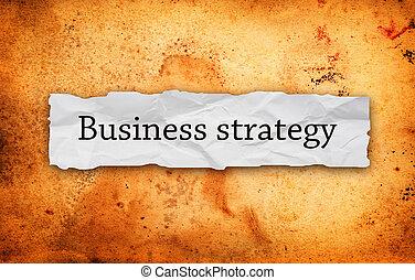 handlowa strategia, na, kawał papieru