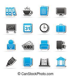 handlowe biuro, ikony