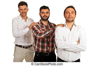 handlowe mężczyźni, poparcie
