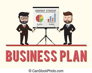 handlowe pojęcie, plan, ilustracja