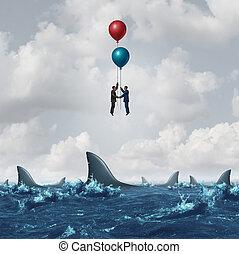 handlowe spotkanie, ryzyko