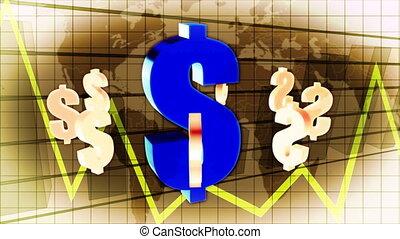 handlowy, świat, finacial, tło