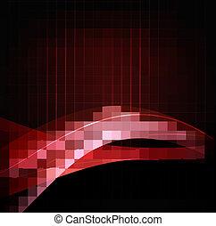 handlowy, abstrakcyjny, ilustracja, elegancki, tło, czerwony