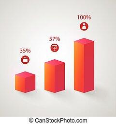 handlowy, abstrakcyjny, wykres, infographics
