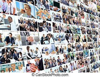 handlowy, collage