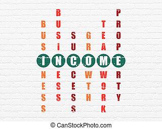 handlowy, concept:, dochód, w, krzyżówkowa zagadka