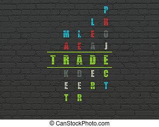 handlowy, concept:, handel, w, krzyżówkowa zagadka