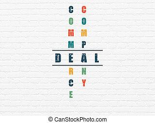 handlowy, concept:, transakcja, w, krzyżówkowa zagadka