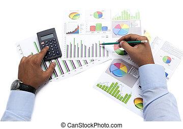 handlowy, dane, analizując