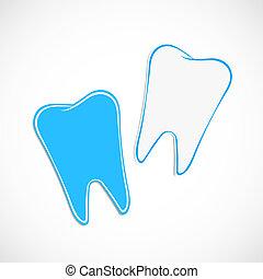 handlowy, dentysta, papier, szablon, albo, karta, ikona
