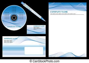 handlowy, editable, set., -, wektor, odpoczynek, materiały piśmienne, zbiorowa identyczność, szablon