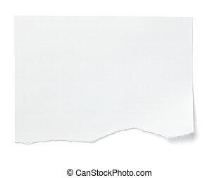 handlowy, etykieta, papier listowy, biały, wiadomość